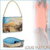 Louis Vuitton Canvas Blended Fabrics 2WAY Chain Elegant Style Clutches
