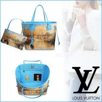 Louis Vuitton NEVERFULL Canvas Blended Fabrics A4 2WAY Elegant Style Totes