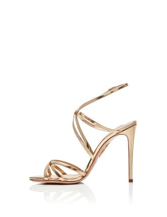 Open Toe Pin Heels Elegant Style Logo Heeled Sandals