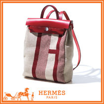 HERMES Casual Style Blended Fabrics 2WAY Backpacks