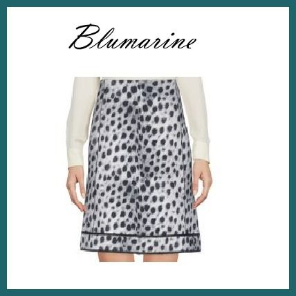 Leopard Patterns Cotton Elegant Style Skirts