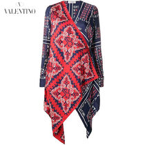 VALENTINO Casual Style Silk Long Sleeves Long Shirts & Blouses