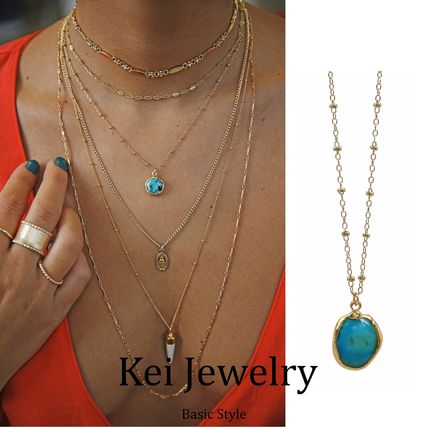 Casual Style Street Style 18K Gold Necklaces & Pendants