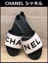 24831137eebf CHANEL SPORTS Open Toe Casual Style Bi-color Sport Sandals Flat Sandals