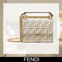 FENDI KAN I Calfskin 2WAY Chain Shoulder Bags