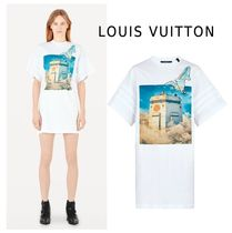Louis Vuitton 2019-20AW PRINTED T-SHIRTS DRESS WITH GEL PATCH white XS-3L