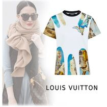 Louis Vuitton 2019-20AW PRINTED T-SHIRTS WITH GEL PATCH white XS-3L Tops