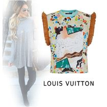 Louis Vuitton 2019-20AW PRINTEDT-SHIRTS WITH RUFFLE Multi-color XS-3L Tops