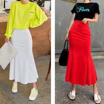 Flower Patterns Casual Style Long Midi Maxi Skirts