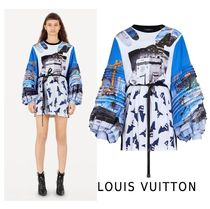 Louis Vuitton 2019-20AW PRINTED DRESS WITH GEL PATCH white XS-3L Dresses