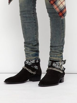 Paisley Suede Street Style Boots