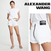 Alexander Wang Short Casual Style Denim Denim & Cotton Shorts