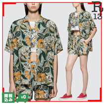 R13 Flower Patterns Casual Style Short Sleeves Shirts & Blouses