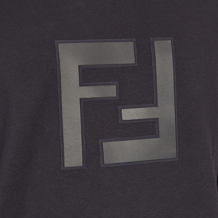 FENDI Sweatshirts Crew Neck Stripes Monogram Long Sleeves Cotton Sweatshirts 4