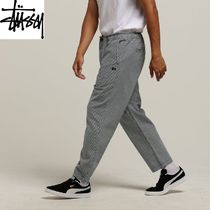 STUSSY Tapered Pants Street Style Cotton Tapered Pants