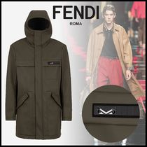 FENDI BAG BUGS Plain Parkas