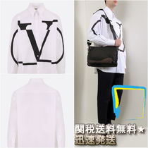 VALENTINO Long Sleeves Plain Cotton Shirts