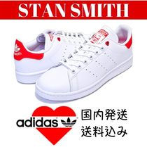 adidas STAN SMITH Heart Casual Style Studded Low-Top Sneakers