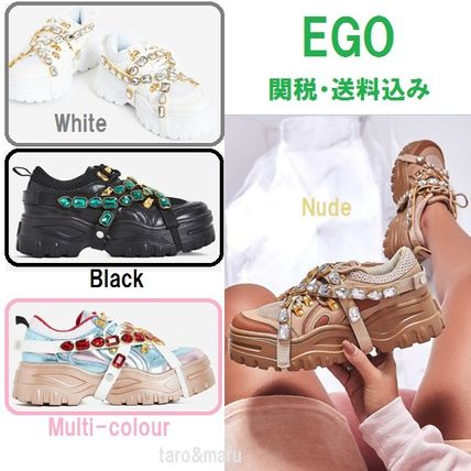 Round Toe Lace-up Casual Style Faux Fur Plain With Jewels