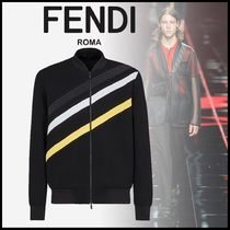 FENDI Stripes Monogram Unisex Track Jackets