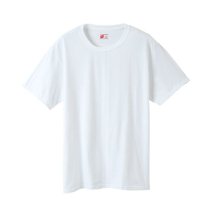Hanes Pullovers V-Neck Plain Cotton Short Sleeves V-Neck T-Shirts