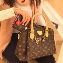 Louis Vuitton MONOGRAM Monogram Canvas A4 2WAY Bi-color Elegant Style Handbags