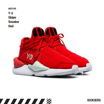 Y-3 Unisex Street Style Collaboration Leather Sneakers