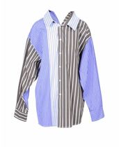 MARNI Stripes Casual Style Bi-color Long Sleeves Cotton Oversized