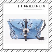 3.1 Phillip Lim Flower Patterns Street Style Leather Party Style