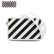 Off-White Stripes Casual Style Bi-color Shoulder Bags