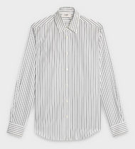 CELINE Stripes Long Sleeves Cotton Shirts