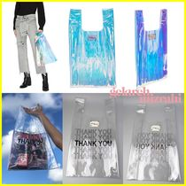 gelareh mizrahi Casual Style Crystal Clear Bags PVC Clothing Totes