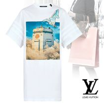 Louis Vuitton Cotton Short Sleeves Dresses