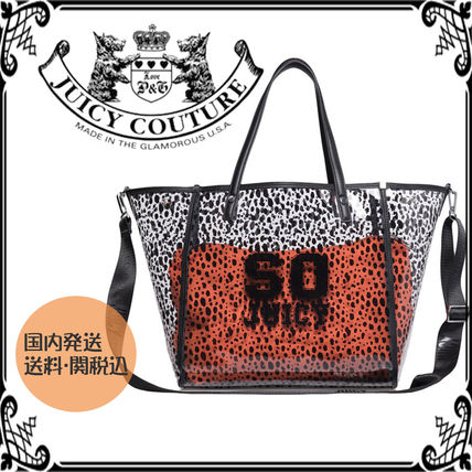 Dots Casual Style Blended Fabrics Crystal Clear Bags