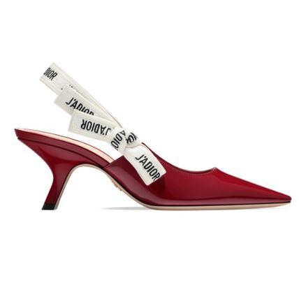 Christian Dior Plain Leather Elegant Style Pointed Toe Pumps & Mules
