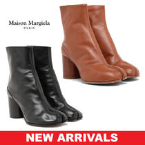 Maison Martin Margiela Round Toe Blended Fabrics Street Style Plain Leather