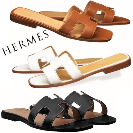 Plain Leather Sandals