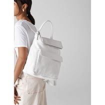 WHISTLES Casual Style A4 2WAY Plain Leather Backpacks