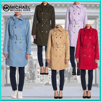 Michael Kors Plain Medium Elegant Style Trench Coats