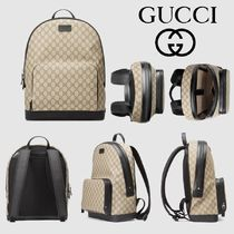 GUCCI GG Supreme Canvas A4 Backpacks