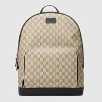 GUCCI GG Supreme Canvas A4 Logo Backpacks