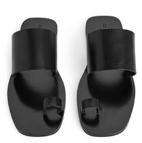 ARKET Casual Style Plain Leather Sandals Sandal
