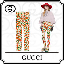 GUCCI Casual Style Cotton Long Skinny Pants