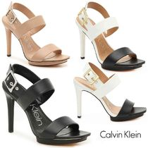 Calvin Klein Open Toe Plain Heeled Sandals
