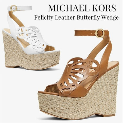 2396df041209 ... Sandals 9 Michael Kors Platform   Wedge Open Toe Plain Party Style  Platform   Wedge ...