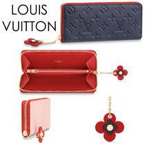 Louis Vuitton CLEMENCE Monogram Leather Long Wallets