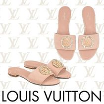 Louis Vuitton Open Toe Suede With Jewels Elegant Style Sandals