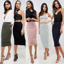 ASOS Pencil Skirts Casual Style Plain Long Maxi Skirts