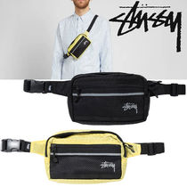 STUSSY Unisex Nylon Street Style 2WAY Plain Hip Packs