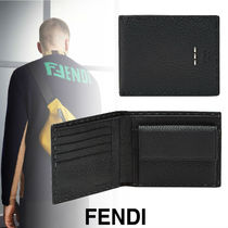 FENDI Calfskin Street Style Folding Wallets
